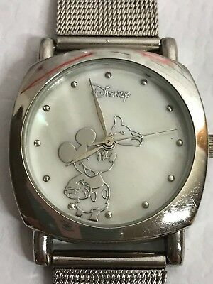 Hands Parks Watch Moves Mouse Disney Women's Leather Mickey Band rdxCeWoB