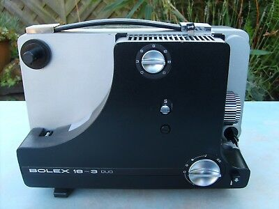 Bolex 18-3 Duo 8mm - super 8 cine film projector with power cable.