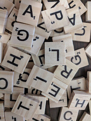 Scrabble Wood Tiles Pieces Full Sets 100 Letters Wooden Replacement Pick