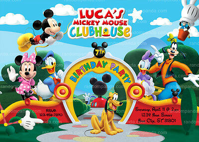 Mickey Mouse Clubhouse Invitation Birthday Party Invite