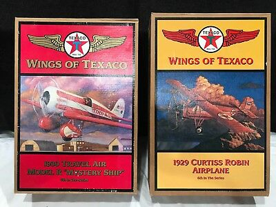 Wings Of Texaco 5th and 6th Series Airplane Coin Bank. NEW IN BOX.