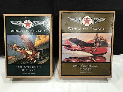 Wings of Texaco 3rd and 4th Series Airplane Coin Bank. NEW IN BOX.