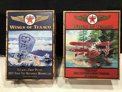Wings of Texaco 7th and 8th Series Airplane Coin Bank. NEW IN BOX.
