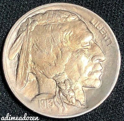 1913-P 5C Buffalo Nickel Type 1 WA2563AZ