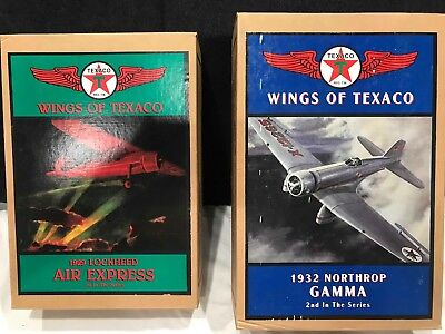 Wings of Texaco 1st and 2nd Series Airplane Coin Bank. NEW IN BOX.