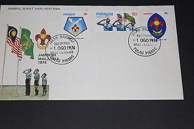 Malaysia 1974 Boy Scouts Jamboree  First Day Cover