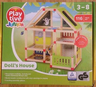 Wooden Dolls House Piece Furniture Set Girls Play Toys Kids Christmas Gift Wood