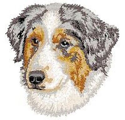 "Australian Shepherd, Aussie Dog, Embroidered Patch 3"" Tall"