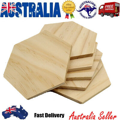 25X 9cm Hexagon Wooden Slices W/ Hole Tree Bark Log Wooden Circles for DIY Craft
