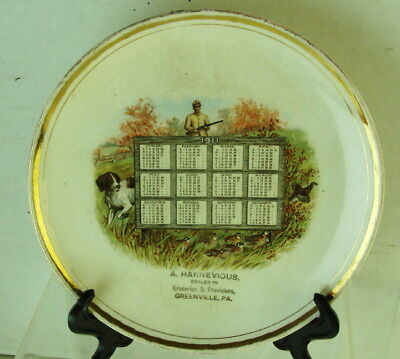 Orig 1911 A.Harnevous Dealer In Groc & Provisions Greenville PA Hunter Plate