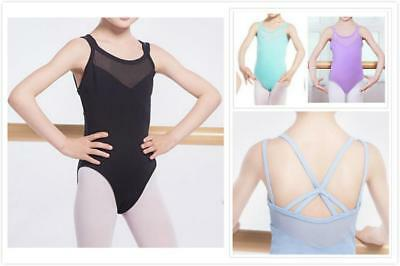 Au Stock Girls To Adults Cotton Tank Dance Ballet Gymnastics Leotard Da029
