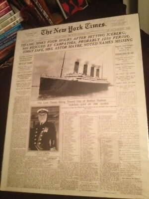 New York Time's Announcement of the Titanic Disaster - Replica