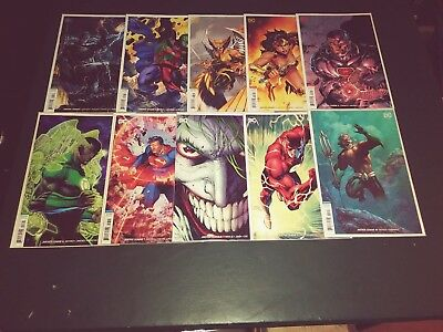 Justice League # 1 - 10 ( All Jim Lee Variant Covers) Unread Nm + 2018