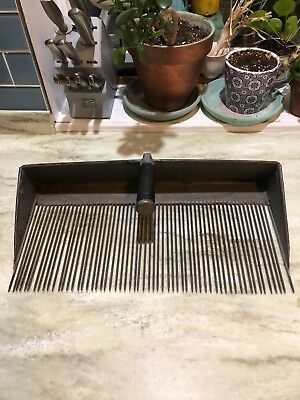 "LARGE Antique Vintage Blueberry Cranberry Bog Rake Scoop Primitive 10"" X 19.5"""