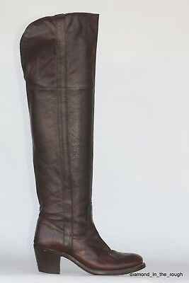 OTK Frye Tall Jane Cuff oiled leather riding boots 6.5 M 77935 In Excell Cond!