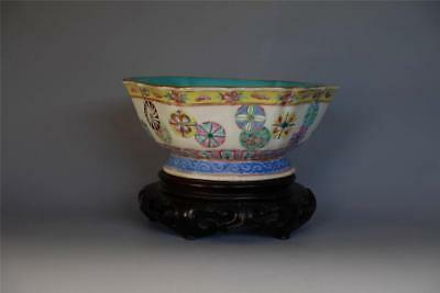 Fine Antique Chinese Famille Rose Porcelain Bowl with TONGZHI Mark