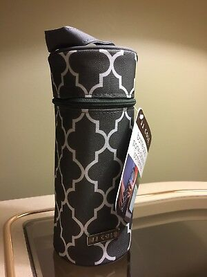 NWT JJ Cole Single Bottle Pod Cooler Insulated - Aspen Stone Arbor Dark Grey New