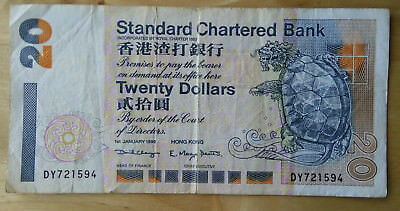 Hong Kong 1999 Banknote - 20 Dollar Standard Chartered Bank