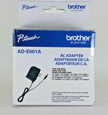 Genuine Brother Ac Adapter AD-E001A P-touch Power for Label Makers ADE001A NEW