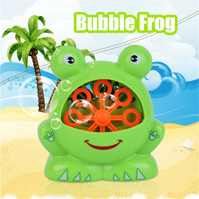 Bubble Frog Crab Blower Maker Automatic Kids Shower Machine Baby Bath Toys Gift
