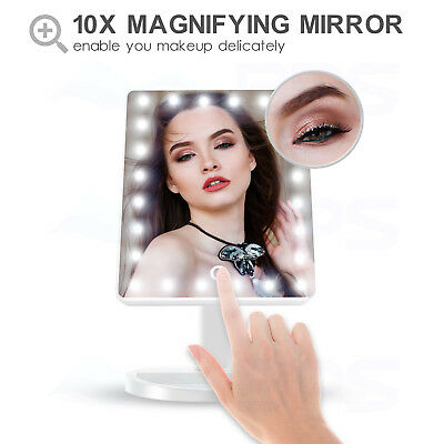 2019 Model Rose Gold Protable 36 LED USB 10X Trifold Vanity makeup Mirror Beauty