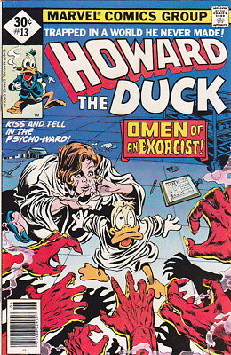 Howard The Duck #13, Early Kiss Appearance, High Grade - Free Shipping !