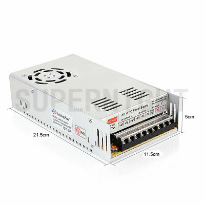 360W Regulated Switching DC 12V 30A Power Supply Driver Adapter Transformer