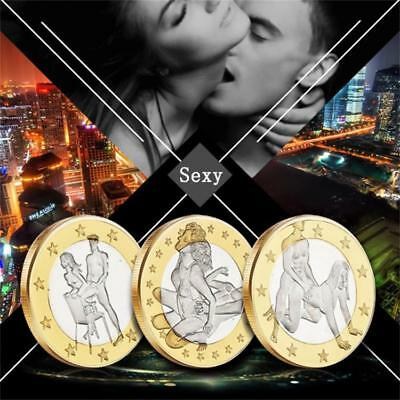 Novelty Sex Newlyweds Couple Collectible Craft Gift Coins Conv Lover Euros Round
