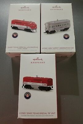 2018 Hallmark Keepsake Christmas ornaments - Lionel Trains - Lot of 3 - L@@K!!