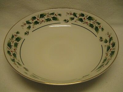 "Fine China of Japan Holly 9 1/4"" Coupe Vegetable Bowl Christmas Excellent Cond."