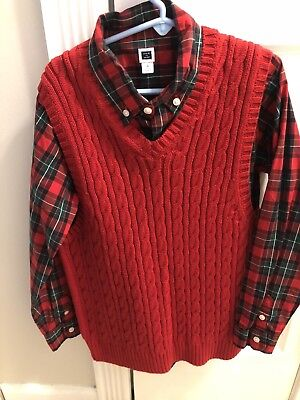 Janie and Jack Size 8 Shirt And Sweater Vest