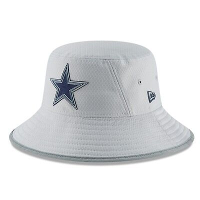 Dallas Cowboys 2018 New Era NFL Official Training Camp Bucket Hat Cap GRAY $32