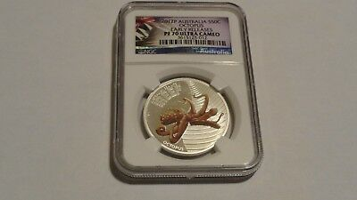 2012 P Australia 50C Octopus NGC PF 70 Ultra Cameo Early Releases Colorized Silv