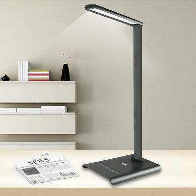 LE 6W Touch Sensor 21 LED Desk Lamps Dimmable Table Reading Lamp 350lm + Power
