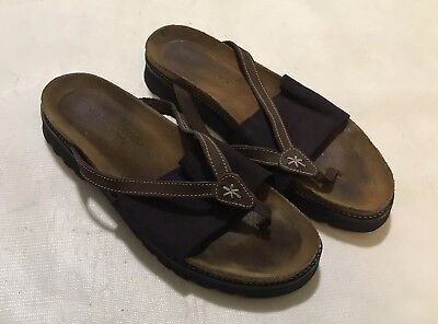 81ae91f5dc3f4 NAOT ORION WOMENS Sandals Shoes Leather Thong Black Brown Size 40 ...