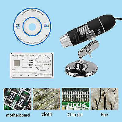 Stand 2MP 8LED 800X 1000X USB Digital Microscope Endoscope Magnifier Camera New