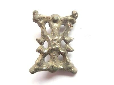 Amazing IRON AGE - Hallstatt Culture ANCIENT Celtic Silver Belt FITTING / MOUNT