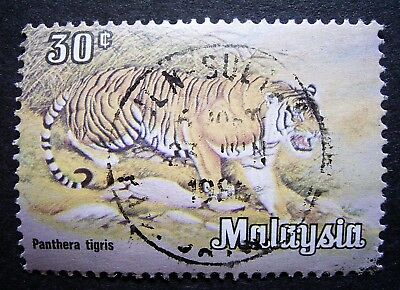 Malasia - Used 30c Panthera Tigris, Good Post Mark