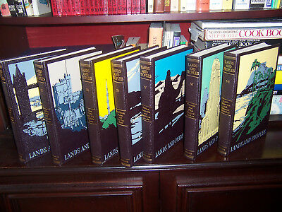 Lands and Peoples Encyclopedia by Grolier - 7 Volumes suit children to adults