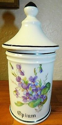 FREE SHIPPING French Druggist OPIUM Apothecary Pharmacy Jar porcelain vessel
