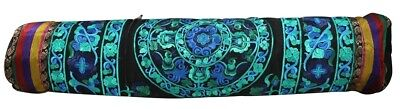 588dee8548e7 Relaxus - Hand Embroidered Bokhara Yoga Mat Bag Black Turquoise Buy Direct  from LuckyVitamin! Spread the Wellness!