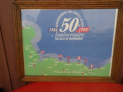 Dday Battle Of Normandy 50 Eme Anniversaire 1944 / 1994  Litho Landing Beaches