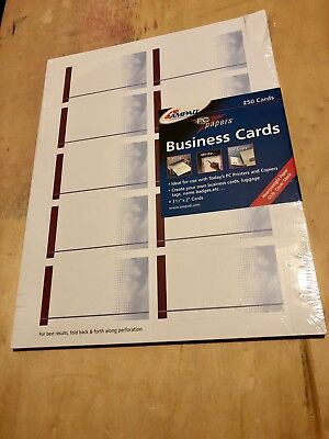 Ampad Business Cards Print Your Own 250 Count Laser Print Pc Papers