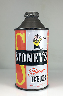 Stoney's Cone Top Beer Can With Original Cap - Great Colors On A Sweet Cone Top!