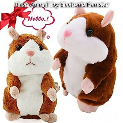 Cute Talking Nod Hamster Mouse Record Chat Mimicry Pet Plush Toy Gift US ILOV