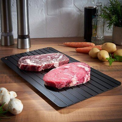 Defrosting Tray Aluminium Meat Thaw Thawing Miracle Frozen Food Defrost Quick UJ