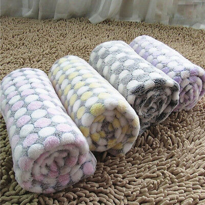Pet Blanket Coral Fleece Thicken Non Slip Mat Dog Cat Cover Puppy Soft Bed Pad