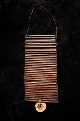 Old Wealth Object Omak Tally Stick with Shell - Western Highlands PNG 1970's