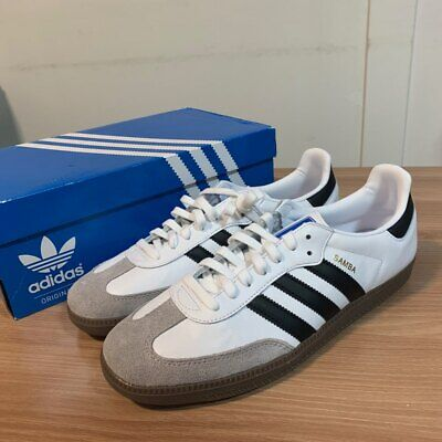 save off 49d11 a1dff Adidas Originals SAMBA OG B75806 Cloud White   Core Black Men s Shoes  Sneakers