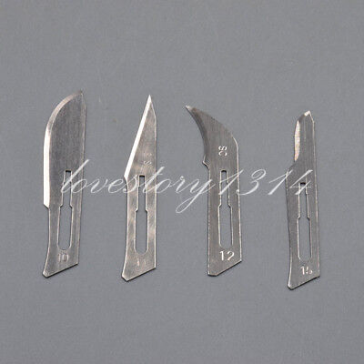 100 Pcs/Box Dental Surgical Scalpel Blades Sterile 10# 11# 12# 15# Carbon Steel